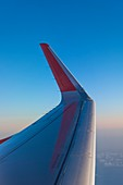 Wingtip of an airliner