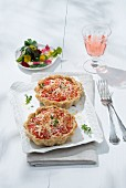 Mini tomato tarts with chevre cheese (Southern France)