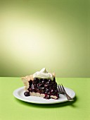 A slice of blueberry icebox pie (USA)