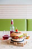 A vegan hamburger