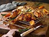 Roasted orange chicken