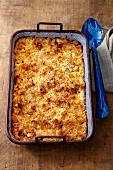 Maccheroni mit Käse (gegrillt)