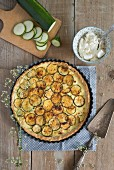 Courgette tart with ricotta
