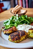 Potato and courgette rissoles with mint