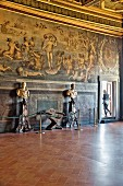 Wall paintings at the 'Palazzo Vecchio in Florence, Italy