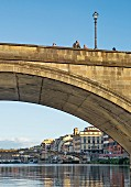 The 'Ponte Carraia' bridge over the River Arno in Florence, Italy