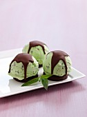 Chocolate Mint Bombes
