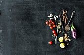 Zutaten aus der mediterranen und orientalischen Küche