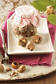 Energy balls with hazelnuts