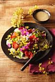 Spring flower salad