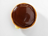 A Boston cream cupcake