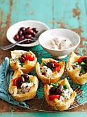 Nicoise tarts