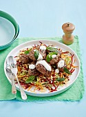 Lamb Kofta with Beetroot Couscous
