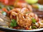 Shrimps and vegetables (fajita fillings)