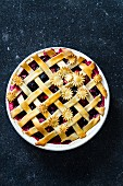 Mixed Berry Lattice Top Pie