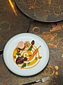 Kalb mit Karotte und Pfifferlingen aus dem Restaurant Opus V in Mannheim