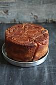 A yeast cake
