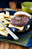 A burger with edible insects