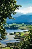 The landscape near Hopfen am See in the Allgäu region of Germany