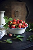 A bowl of fresh strawberries