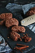 Chocolate biscuits with almonds and cinnamon (gluten free)