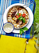 Moroccan Rice and Lamb