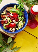 White bean and char-grilled vegetable salad