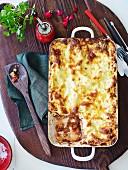 Lasagne mit Auberginen und Ricotta