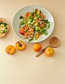 Carrot and chickpea salad with apricots