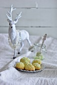 Lime and coconut snowballs