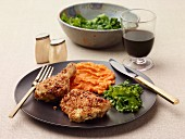 Baked garlic chicken with Parmesan breadcrumbs