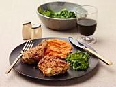 Gebackenes Knoblauch-Hähnchen mit Parmesan-Panade