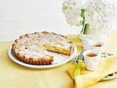 Ricotta, verjuice, apricot and Tokay crostata