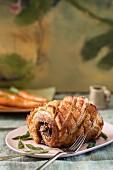 Slow roasted pork belly (Tuscany, Italy)