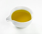 Olive oil in a small bowl