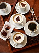 Several varieties of coffee (Christmas)