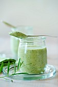 Herb lassi with tarragon