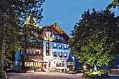 The Prinz-Luitpold-Bad spa hotel in Bad Hindelang in the Allgäu region of Germany