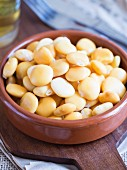 Lupine beans (tremocos), a typical Portuguese salty snack