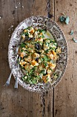 Baked Butternut squash with spinach and ricotta