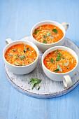 Tomato cream soup with parmesan
