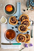 Puff pastry snails and tea