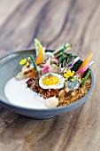 Nasi Goreng mit Schellfisch, Restaurant 'Pure C' in Cadzand-Bad, Niederlande, Küchenchef Syrco Bakker