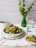 Tabbouleh with kale, pumpkin, red onion and quinoa