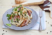 Ribbon noodles with parsnips