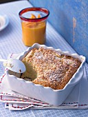 Quark casserole with mango and coconut