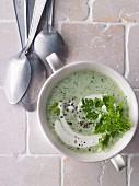 Frankfurt style herb soup