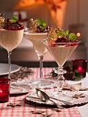 Toffee-Mousse mit Salzkaramell zu Weihnachten