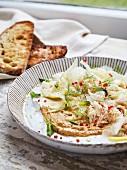 Fenchelsalat mit Krabben und Zitrone