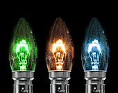 Tungsten filament candle light bulbs